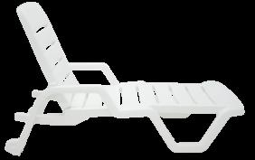 Espreguicadeira Tramontina Leblon em Polipropileno Branco