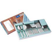 Faqueiro Aço Inox 24 Peças Com Facas de Churrasco Brinox Lyon 5101/102