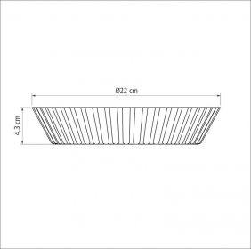 Forma Funda de Aluminio Antiaderente para Bolos e Tortas Tramontina Brasil 22 CM Grafite 20056/022
