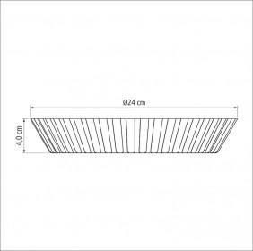 Forma Funda de Aluminio Antiaderente para Bolos e Tortas Tramontina Brasil 24 CM Grafite 20056/024
