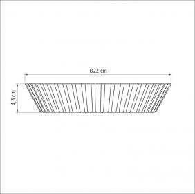 Forma Funda em Aluminio Antiaderente para Torta e Bolo Tramontina Brasil 22 CM Vermelha 20056/722