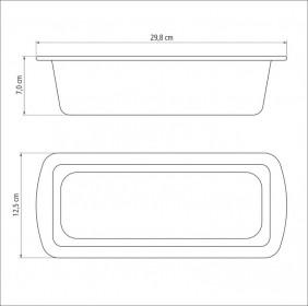 Forma para Pao em Aluminio Antiaderente Tramontina Brasil 26 CM Vermelha 2006726