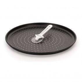 Forma Para Pizza Antiaderente Furada 35 cm Com Cortador Multiflon Forno 80022