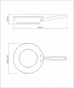 Frigideira Tramontina Ventura em ACO INOX com Revestimento Interno Ceramico 20 CM 1,3 L