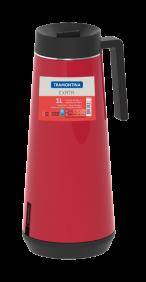 Garrafa Termica em ACO INOX com Infusor Tramontina Exata 1 Litro Vermelho 61644/106