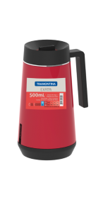 Garrafa Termica em ACO INOX com Infusor Tramontina Exata 500 ML Vermelho 61644/056