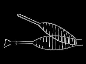 Grelha Tramontina Churrasco em ACO INOX 71,3 X 16,5 CM