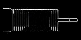 Grelha Tramontina Churrasco em ACO INOX 72,5 X 22,5 CM