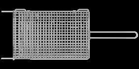 Grelha Tramontina Churrasco em ACO INOX 75,5 X 27 CM