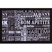Jogo Americano Decor e Casa New York em PVC 30 cm X 40 cm Kit Com 1, 4 ou 6 Peças (Desconto Para Kit Com 4 e 6 Peças)