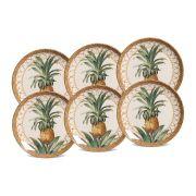 Jogo de Pratos de Sobremesa Porto Brasil Pineapple Natural 6 Peças 542094