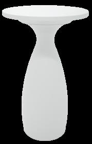 Mesa Tramontina FLUT ALTA Branca em Polietileno e Poliuretano