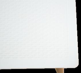 Mesa Tramontina Laura Rattan em Polipropileno com Pernas de Madeira Branco