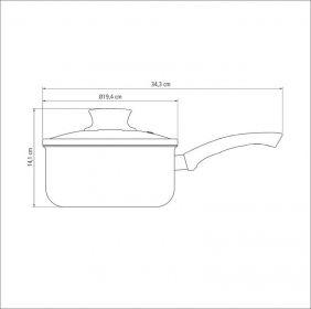 Panela em Aluminio Antiaderente com Tampa de Vidro Tramontina Paris 18 CM 2,0 L Vermelha 20525/718