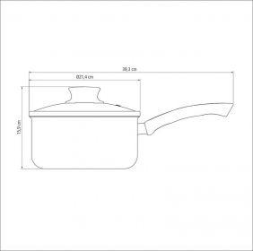 Panela em Aluminio Antiaderente com Tampa de Vidro Tramontina Paris 20 CM 3,0 L Vermelha 20525/720
