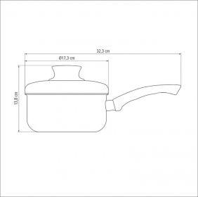 Panela em Aluminio Antiaderente com Tampa Tramontina Paris 16 CM 1,50 L Grafite 20525/616