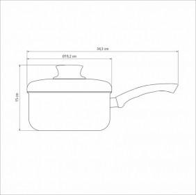 Panela em Aluminio Antiaderente com Tampa Tramontina Paris 18 CM 2,0 L Grafite 20525/618