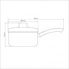 Panela em Aluminio Antiaderente com Tampa Tramontina Paris 20 CM 3,0 L Grafite 20525/620