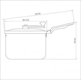 Pipoqueira Tramontina Loreto em Aluminio com Revestimento Interno Antiaderente Starflon T1 AZUL 20 CM 3,5 L
