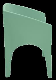 Poltrona Tramontina Paco Salvia em Polietileno