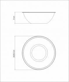 Pote BOWL / Recipiente em ACO INOX Tramontina Freezinox 24 CM 3 Litros 61224/241