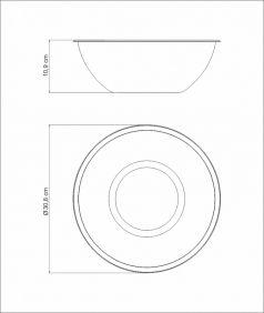 Pote BOWL / Recipiente em ACO INOX Tramontina Freezinox 28 CM 5 Litros 61224/281