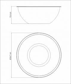 Pote BOWL / Recipiente em ACO INOX Tramontina Freezinox 32 CM 8 Litros 61224/321