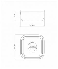 Pote Tramontina Freezinox Quadrado em ACO INOX com Tampa Plastica Verde 23 CM 4 L