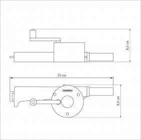 Soprador Manual para Carvao Churrasqueira e Lareira Tramontina 2647100