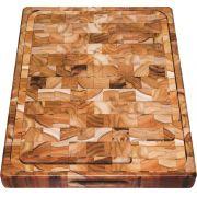Tábua Para Churrasco em Madeira Invertida Teca Tramontina 50 x 38 cm 10019/050