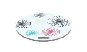 Tabua Redonda Tramontina em Vidro Branco com Estampa Colorida 25 CM
