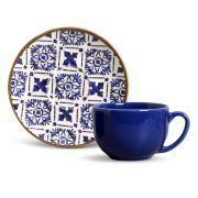 Xícara de Chá 198 ml Com Píres Porto Brasil Asteca 521096