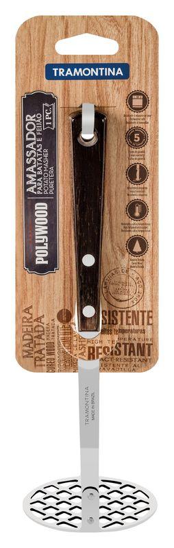 Amassador de Batatas Aço Inox Tramontina Polywood Castanho 21159/190