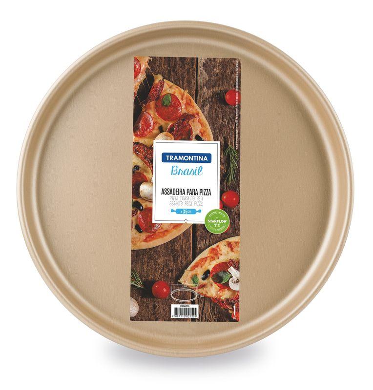 Assadeira Para Pizza Alumínio Antiaderente Tramontina Brasil 30 cm Vermelha 20058/730