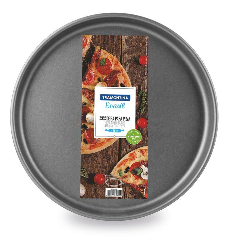 Assadeira Para Pizza Alumínio Antiaderente Tramontina Brasil 35 cm Grafite 20058/035
