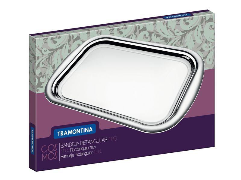 Bandeja Retangular em Aço Inox Tramontina Cosmos 38,5 x 25 cm 61316/390