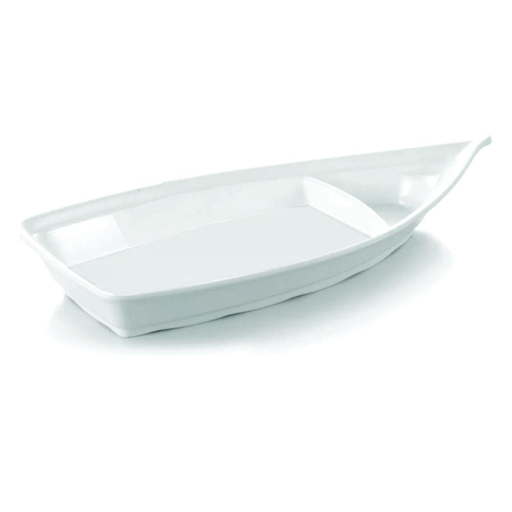 Barco Japonês Grande Para Sushi Sashimi 60 X 26 cm Branco Em Melamina Gourmet Mix GX5610