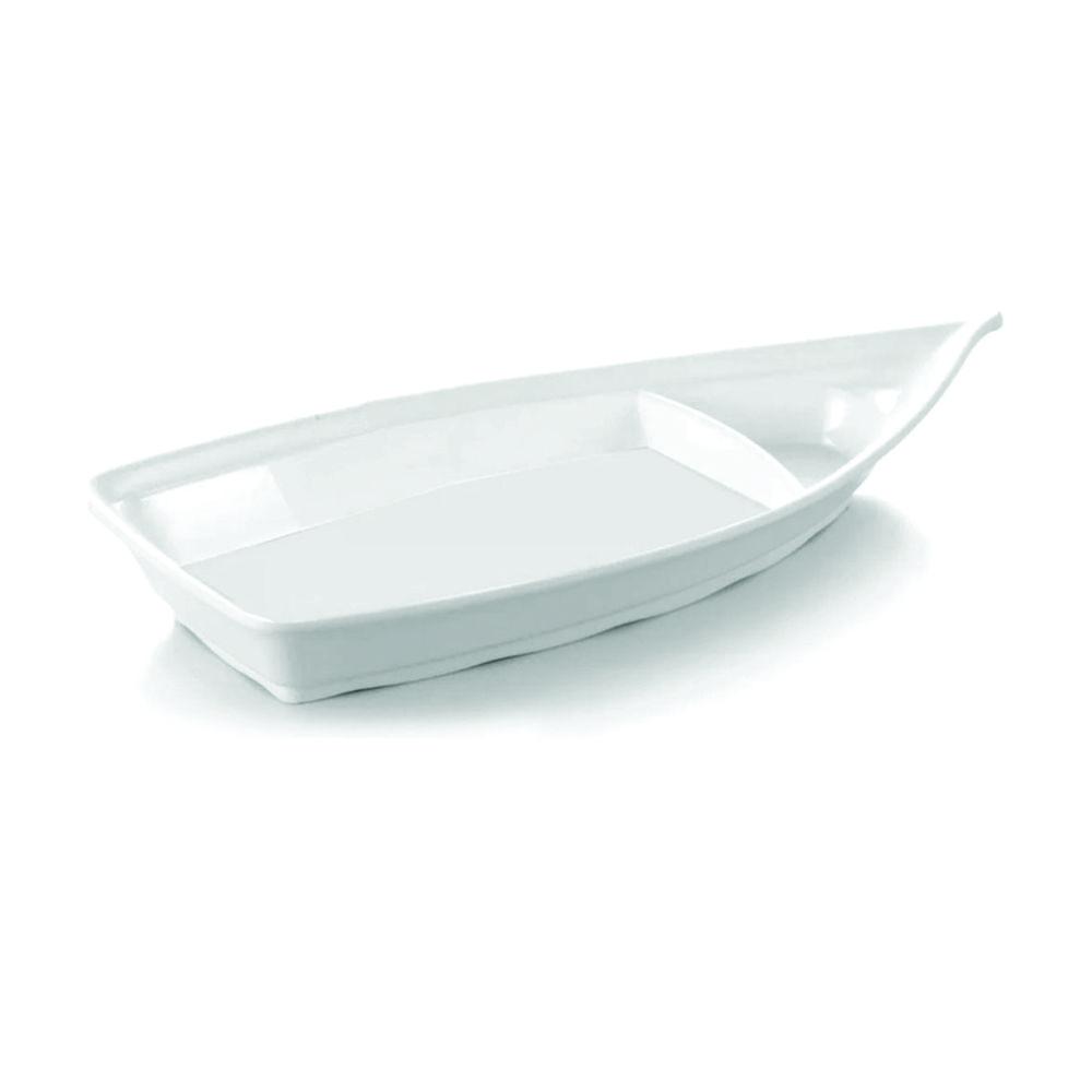 Barco Japônes Médio Para Sushi Sashimi 41 X 18 cm Branco Em Melamina Gourmet Mix GX5472