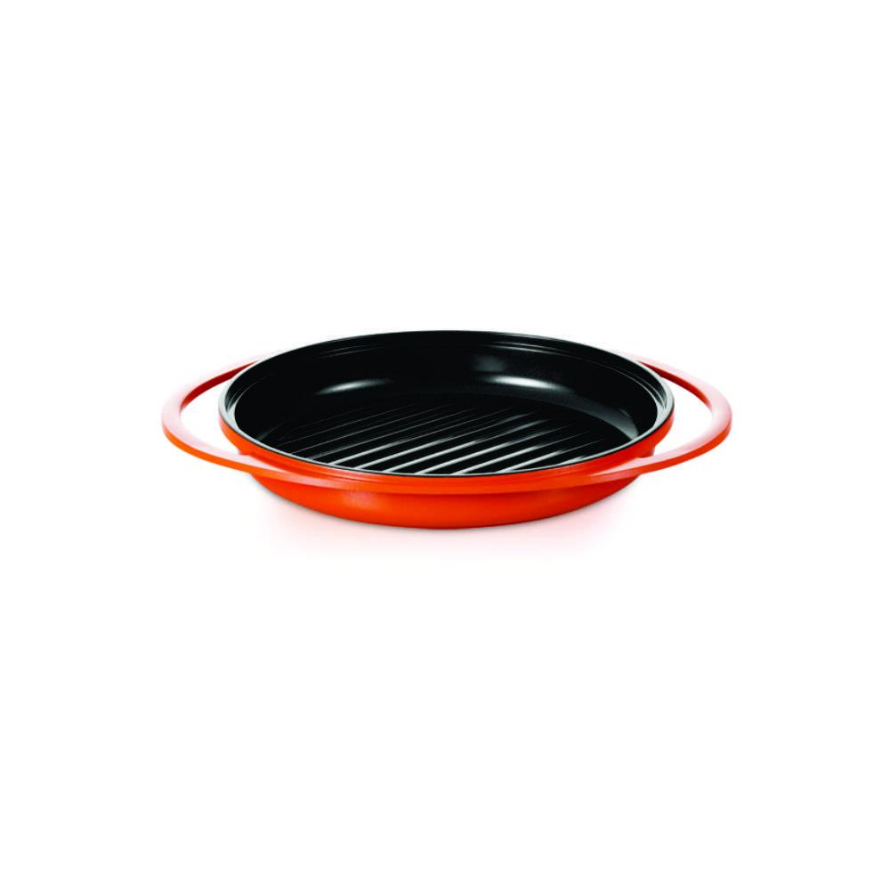 Bistequeira / Grill Antiaderente Revestimento Cerâmico e Tampa Roichen Natural Ceramic 26 cm RGPC-26G/O