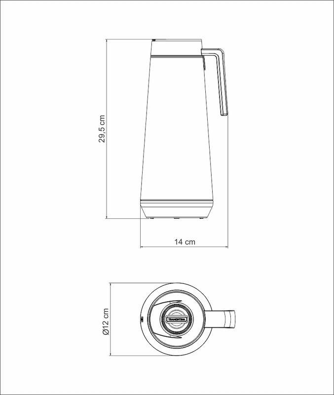 Bule Térmico em Aço Inox Com Infusor Tramontina Exata 1 Litro Branco 61644/104