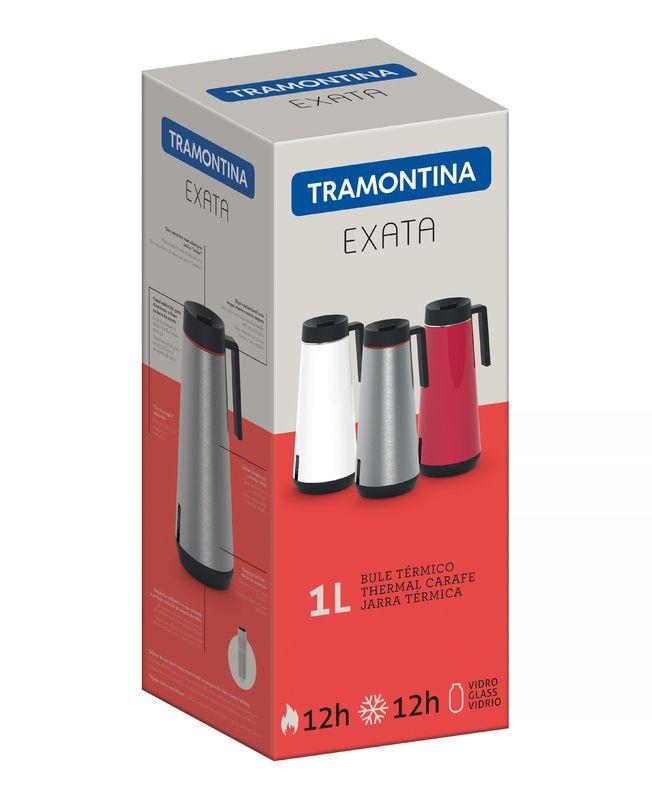 Bule Térmico em Aço Inox Com Infusor Tramontina Exata 1 Litro Vermelho 61644/106
