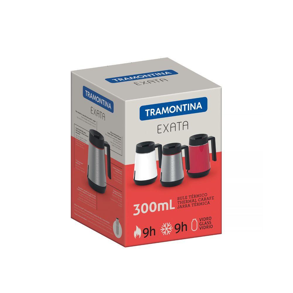 Bule Térmico em Aço Inox Com Infusor Tramontina Exata 300 ml Grafite 61644/030