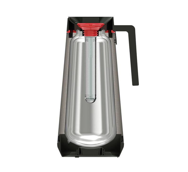 Bule Térmico em Aço Inox Com Infusor Tramontina Exata 300 ml Vermelho 61644/036