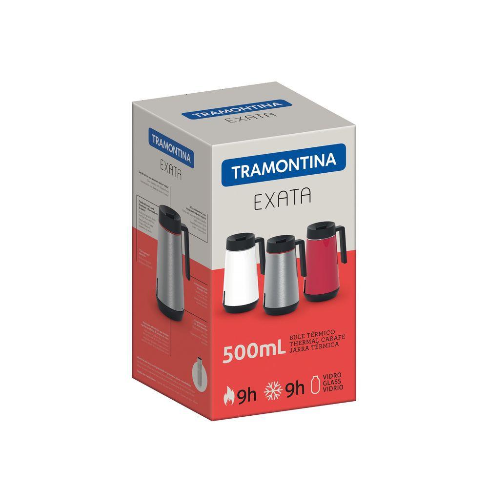 Bule Térmico em Aço Inox Com Infusor Tramontina Exata 500 ml Vermelho 61644/056