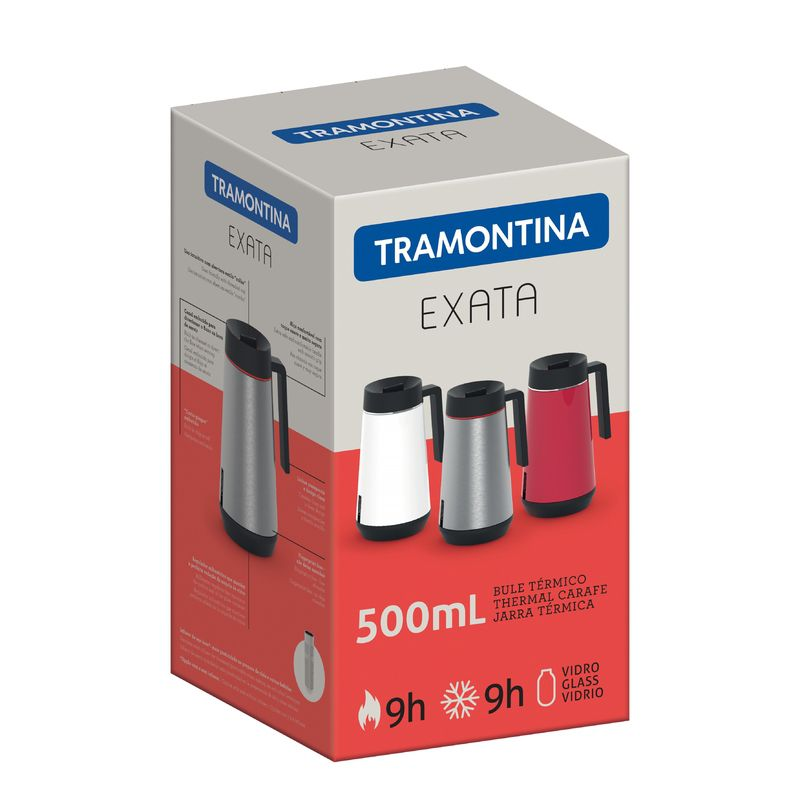 Bule Térmico em Aço Inox Com Infusor Tramontina Exata 750 ml Grafite 61644/070