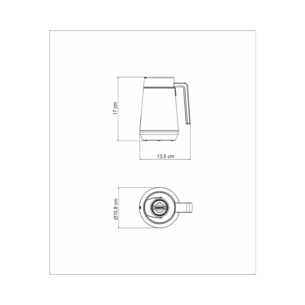 Bule Termico Tramontina 300 ML Exata Branco com Infusor 61644/034