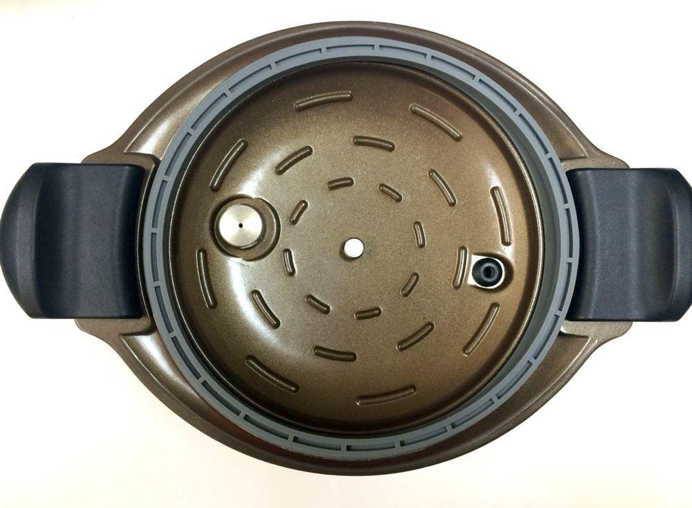Caçarola a Vácuo (Semi-Pressão) Revestimento Cerâmico Roichen Natural Premium Vacuum 20 cm 4,0 Litros Laranja RVPC-20HC/O