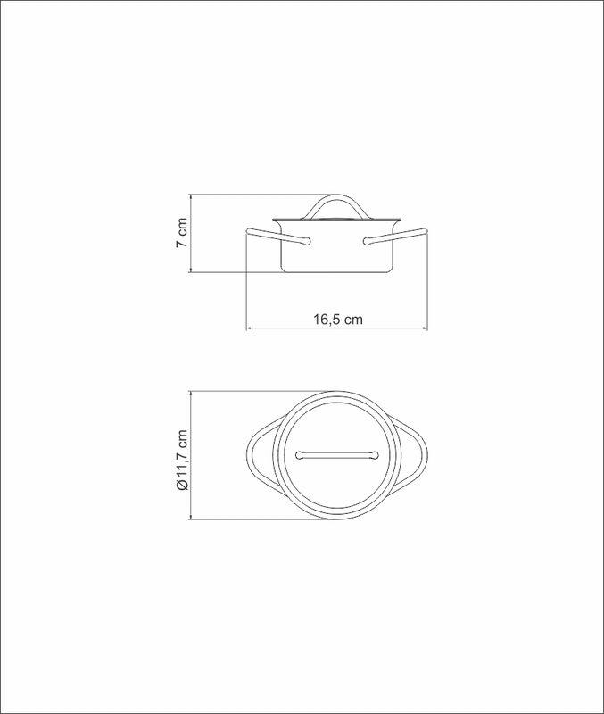 Caçarola Cocotte em Aço Com Tampa Inox 10 cm 350 ml Tramontina Arcus 62443/100