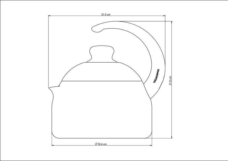 Chaleira em Alumínio Antiaderente Tramontina My Lovely Kitchen 1,90 Litros 27807/035
