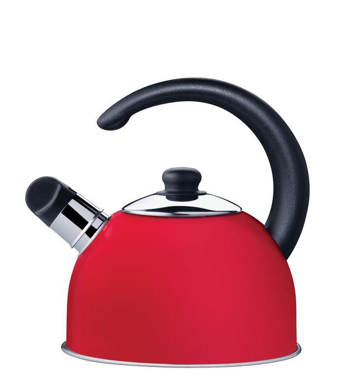 Chaleira Vermelha em Aço Inox Com Apito Tramontina Coffee e Tea 2,10 Litros 61483/060